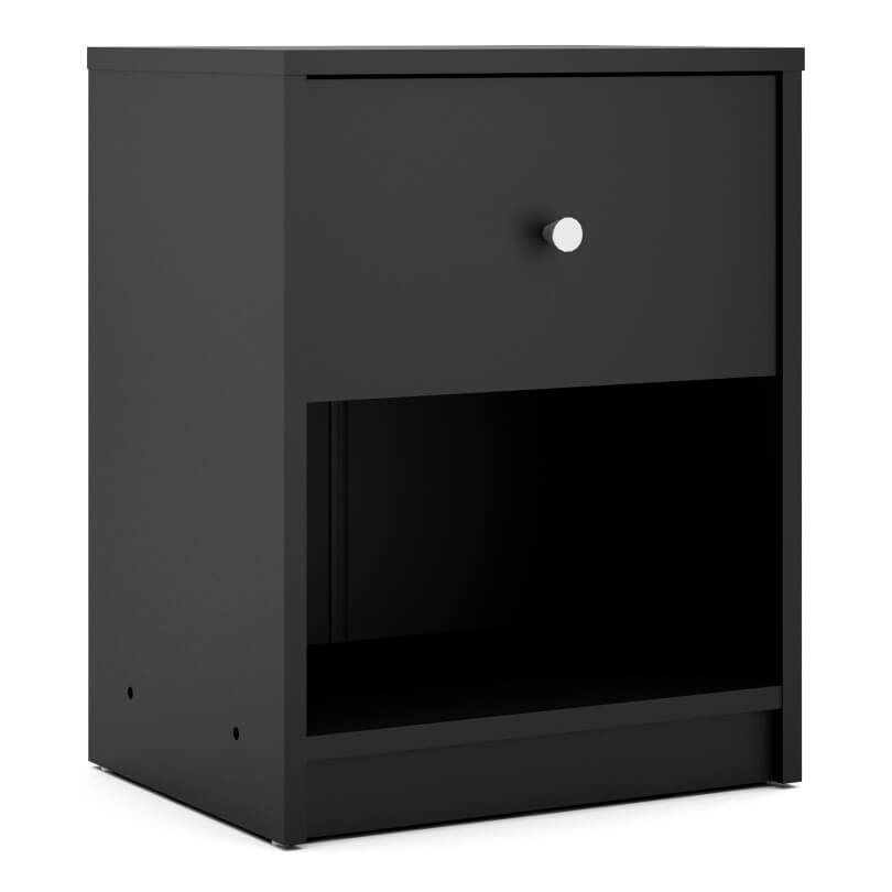 May Bedside 1 Drawer in Black