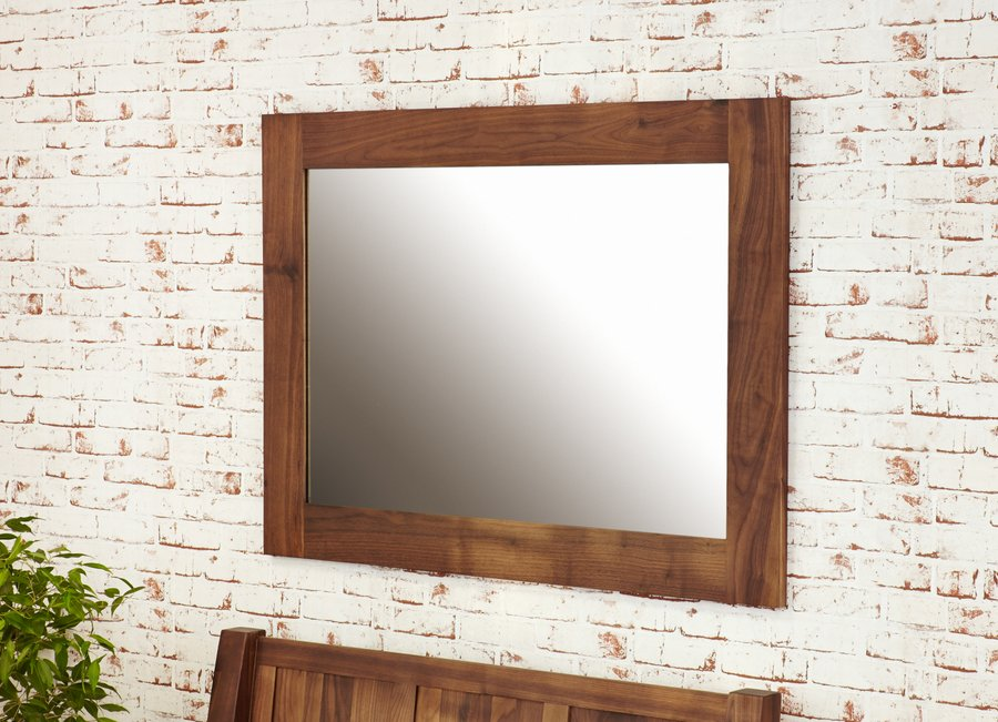 Mayan Walnut Medium Wall Mirror