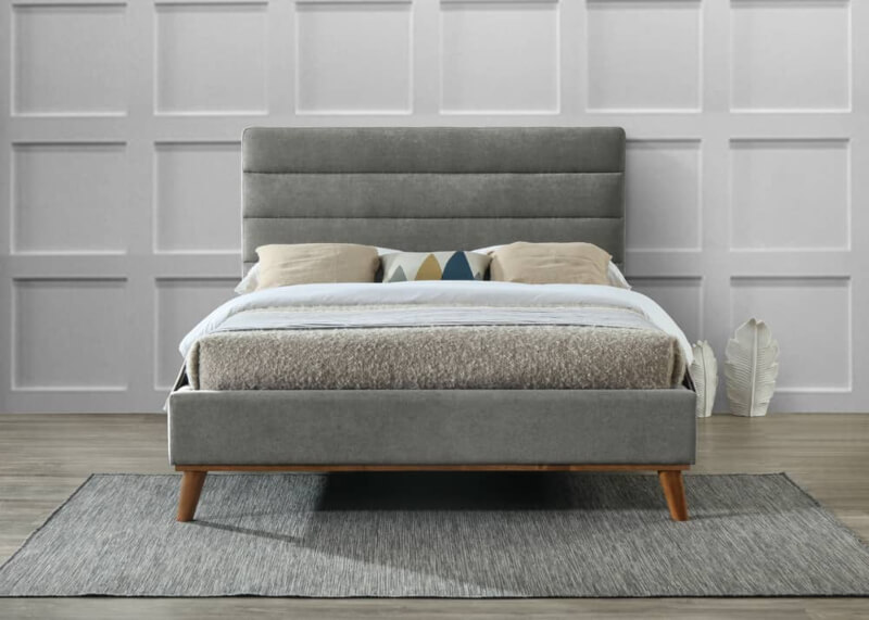 Mayfair Bed - Light Grey - Double