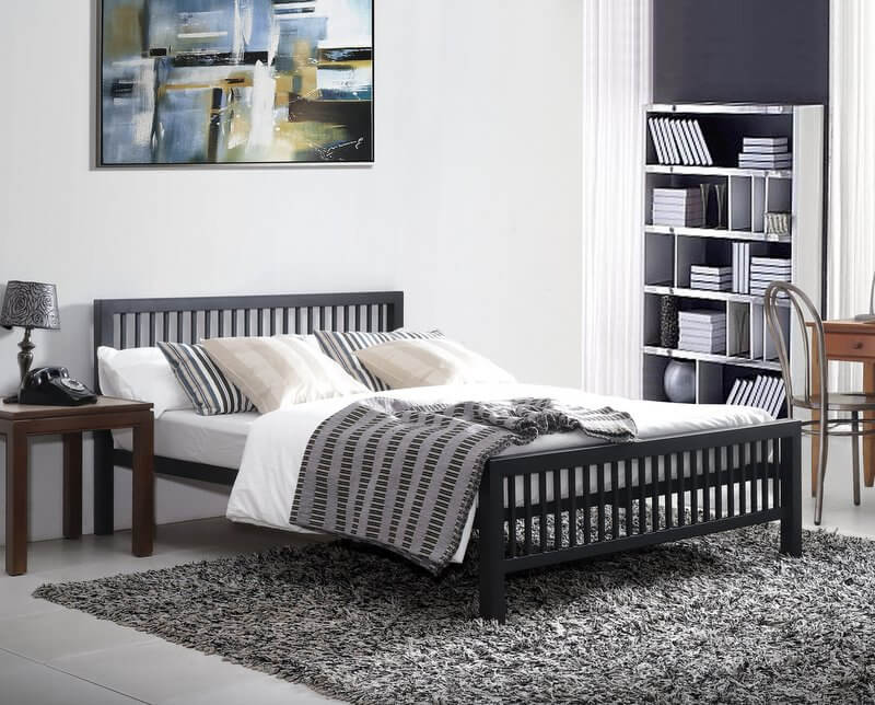 Meridian Black Metal Bed Frame - Double