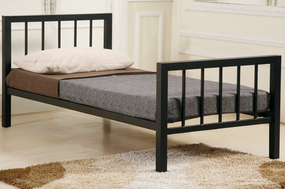 Metro Black Metal Bed Frame - Single