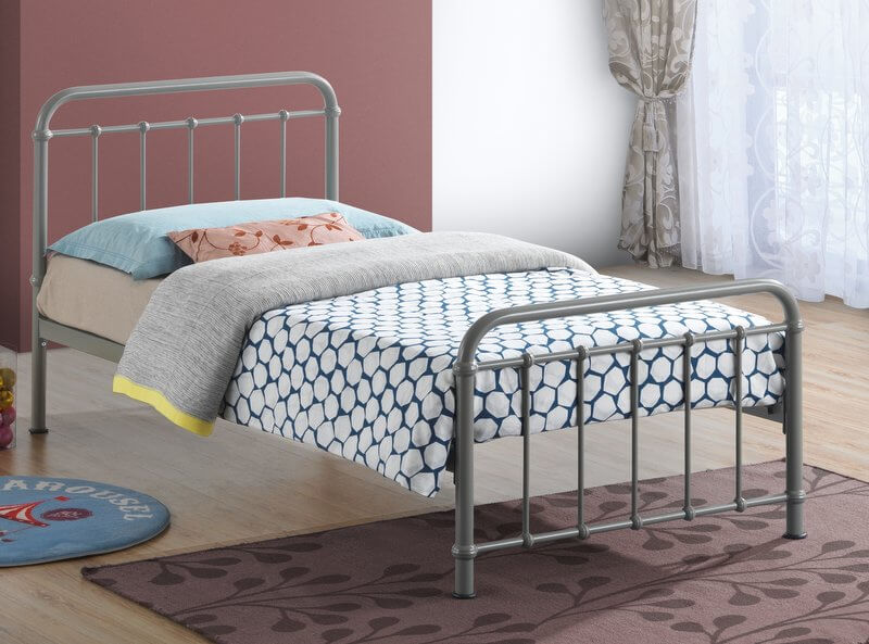 Miami Pebble Metal Bed Frame  - Single