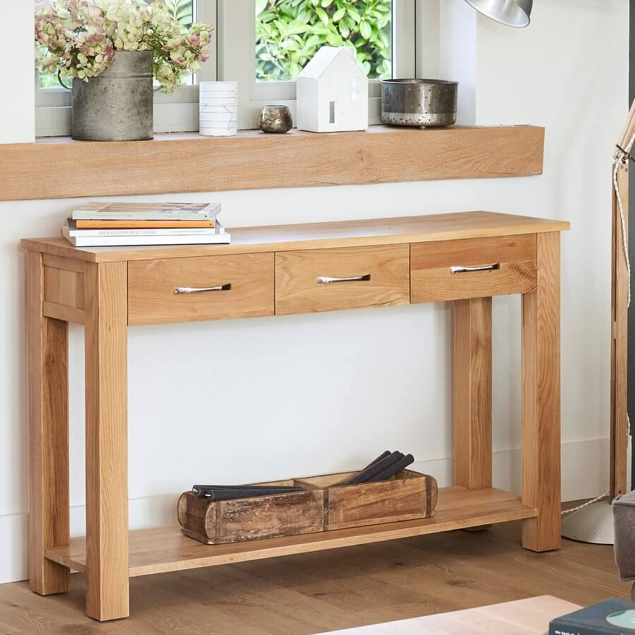 Console Table Mobel Oak