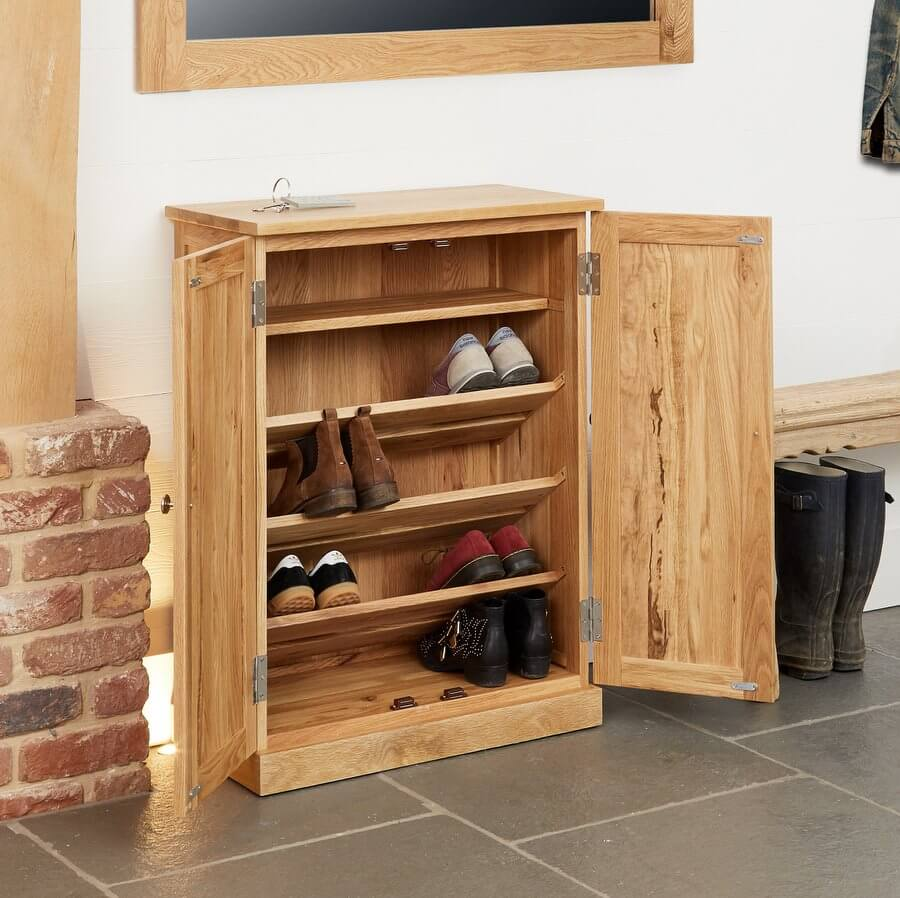 shoe cupboard mobel oak
