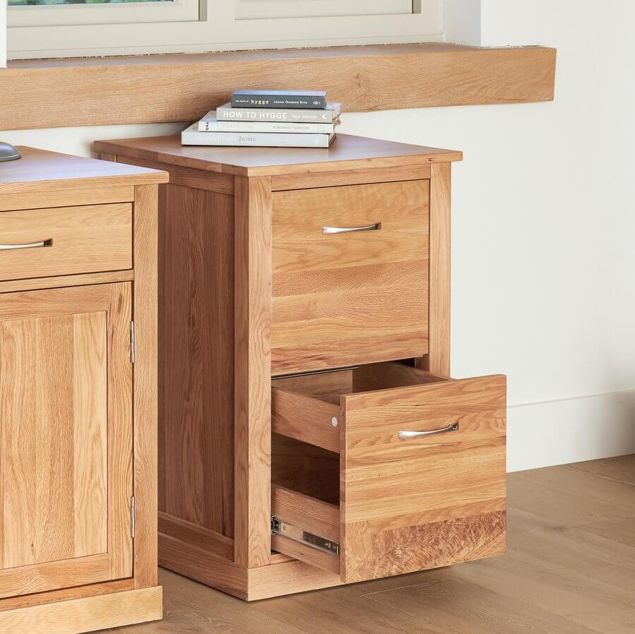 Two Drawer Filing Cabinet Mobel Oak
