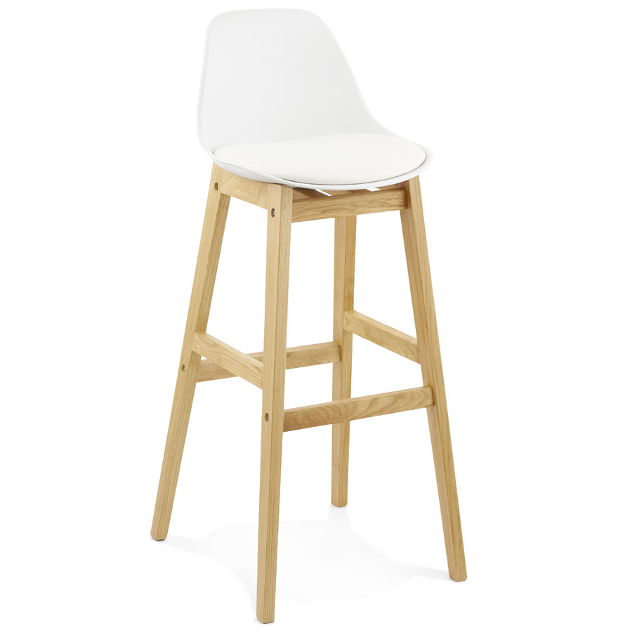 Modern Bar Stool with Wooden Frame