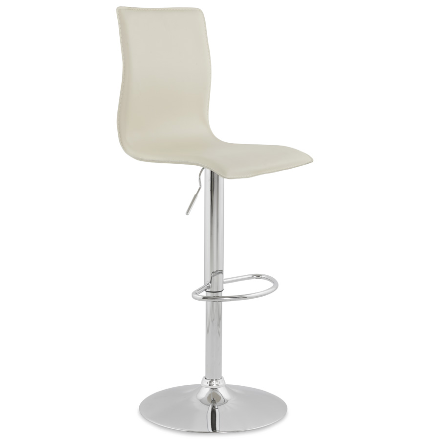 Modern Tall Back Faux Leather Bar Stool