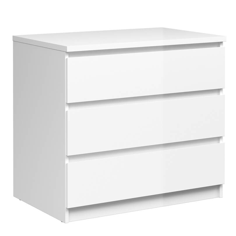 Naia Chest of 3 Drawers in White