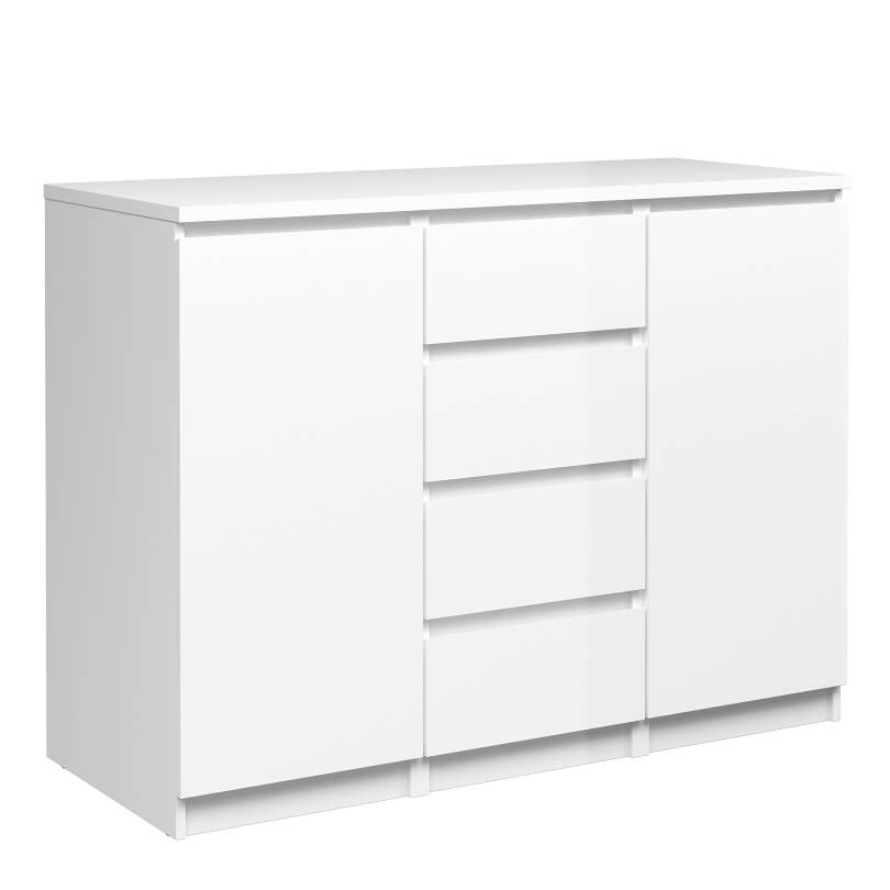 Naia Sideboard - 4 Drawers 2 Doors in White