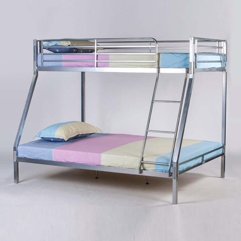 Contract Specification No Bolt Metal Triple Bunk Beds in Silver
