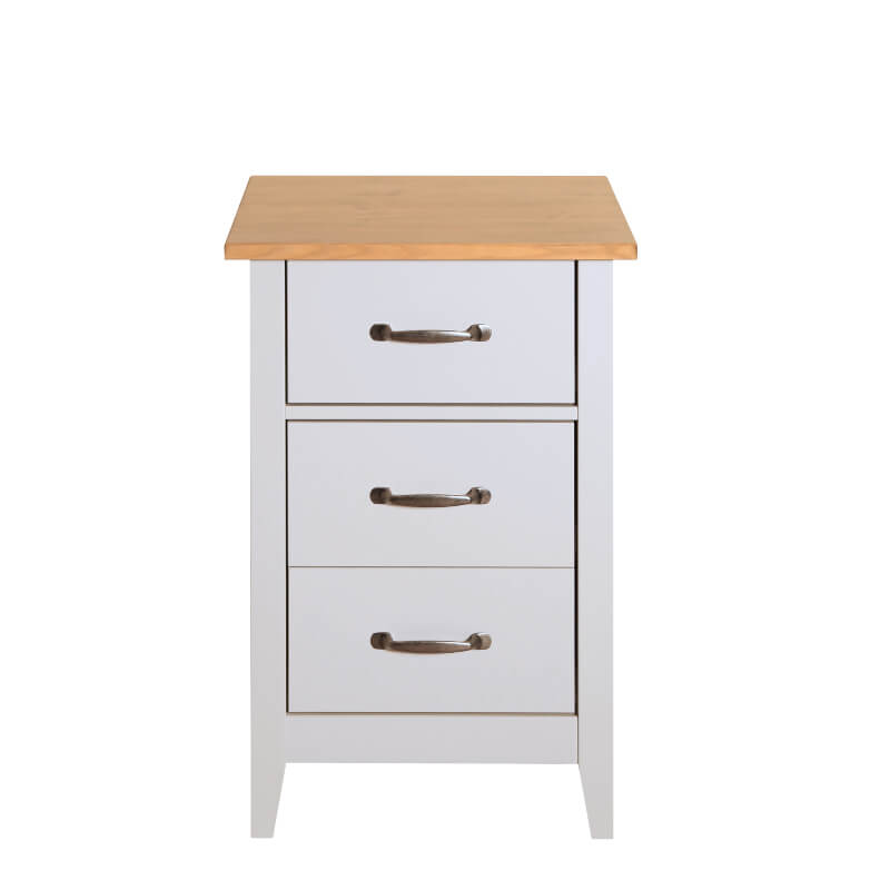 Norfolk Grey & Pine Bedside Table