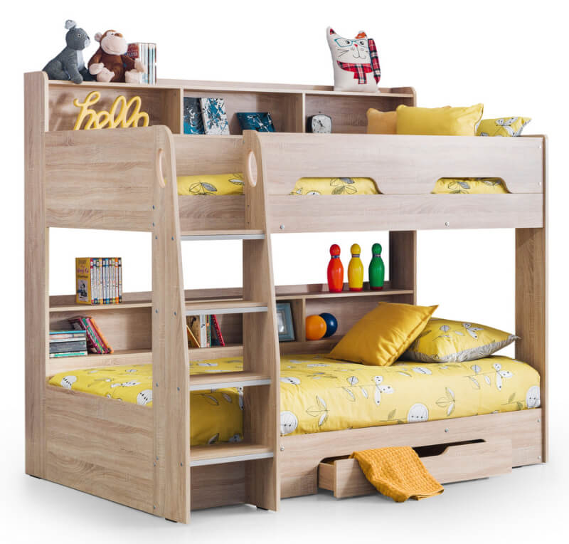 Orion Bunk Bed - Sonoma Light Oak Finish