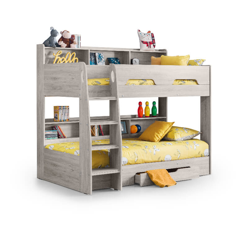 Orion Bunk Bed - Grey Oak Finish