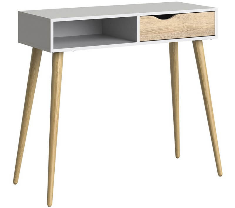 lowest price 8ea1a 6fc47 Oslo Console Table 1 Drawer 1 Shelf in White and Oak