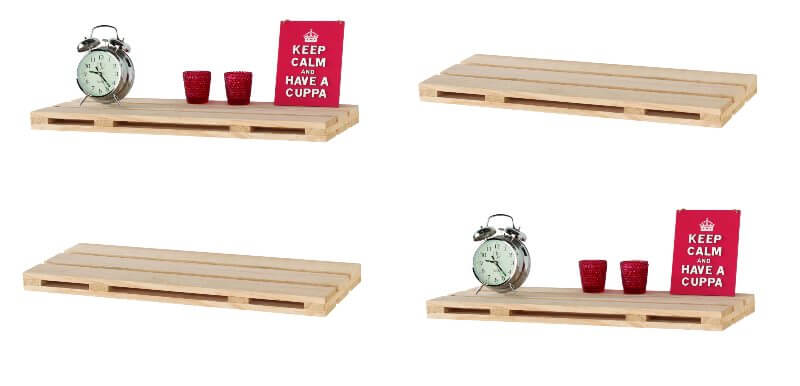 Pallet Floating Shelf Kit - 80 cm Set of 4