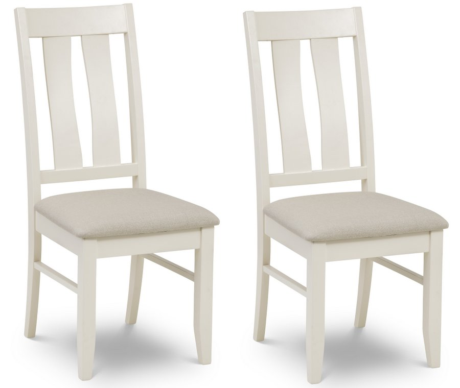 Pembroke Ivory Dining Chairs with Fabric Padded Seat- Set of 2 or 4