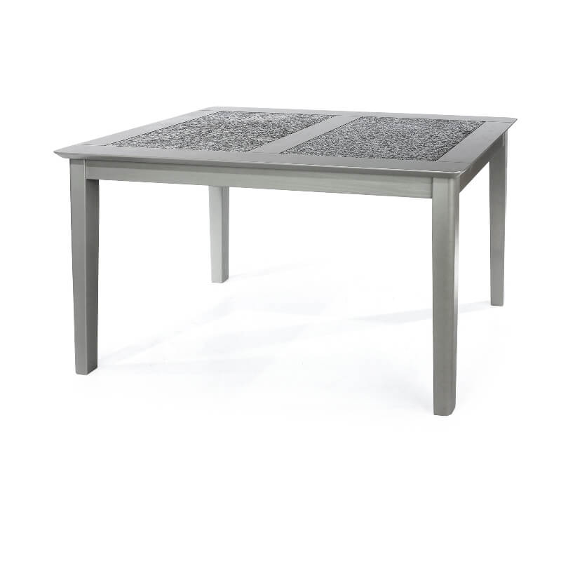 Perth Grey 150 cm Rectangular Dining Table with Stone Inlay Top
