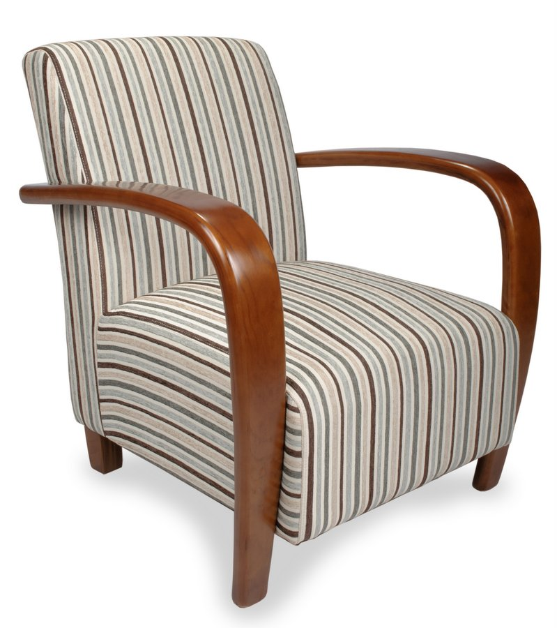 Pleasing Restmore Stripe Fabric Armchair Home Interior And Landscaping Dextoversignezvosmurscom