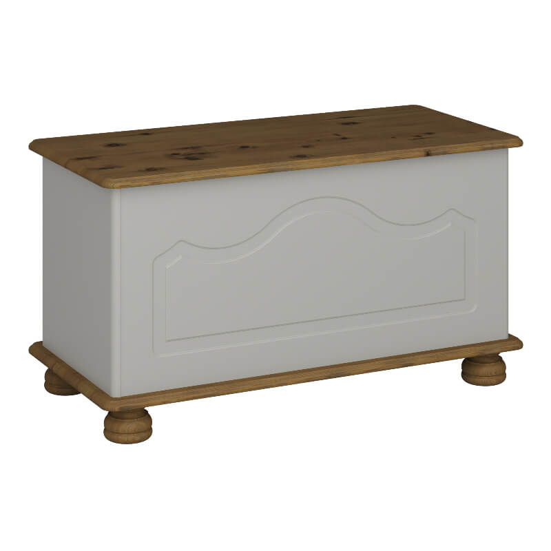 Richmond Grey and Pine Ottoman