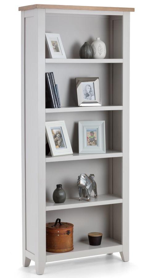 Richmond Soft Grey & Oak Tall Bookcase