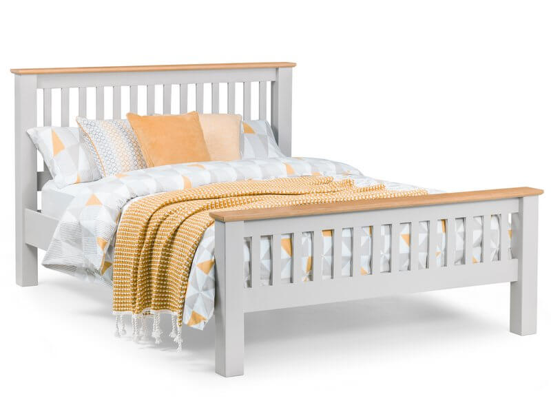 Richmond Soft Grey Double Bed Frame