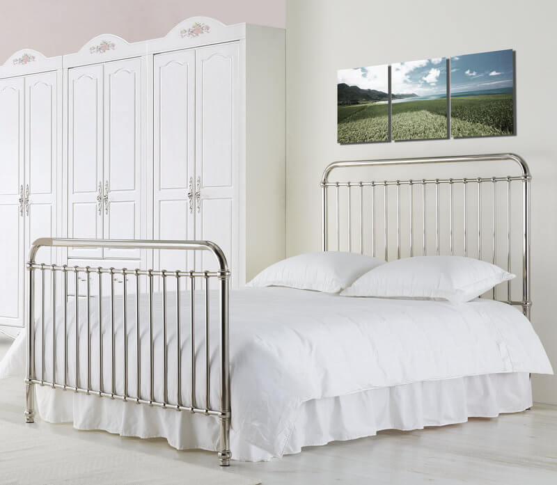 Rose Gaslight Style Bed Frame - Single