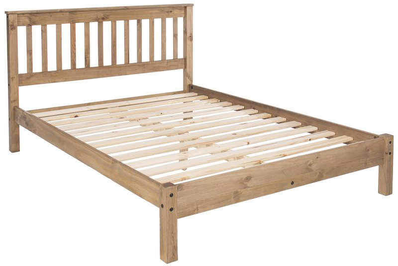 Abdabs Furniture - Rustic Pine Double Bed Frame