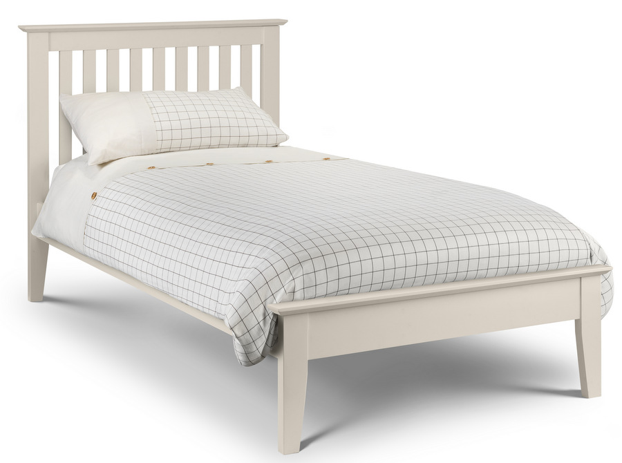Salerno Shaker Bed Frame Ivory Lacquered Finish - Single