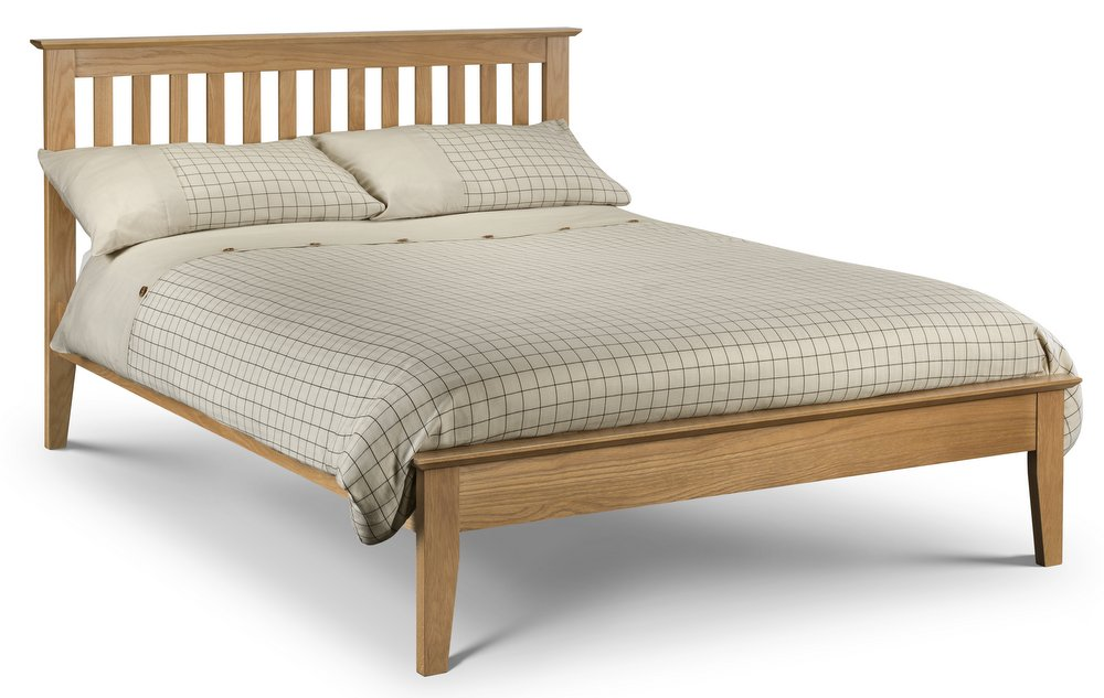 Salerno Shaker Bed Solid Oak - Double