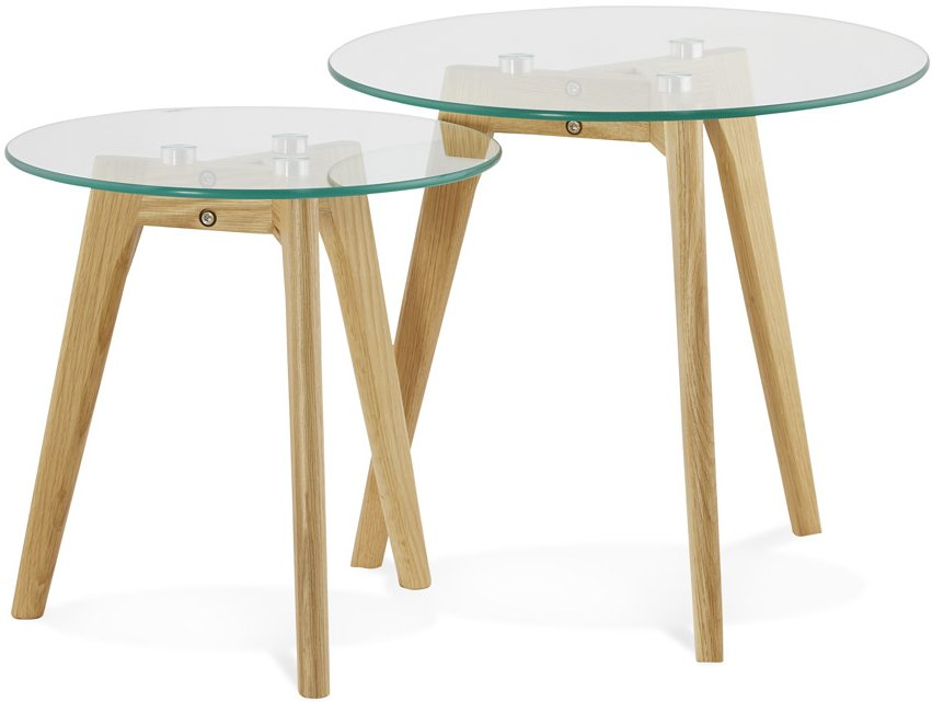 Scandi Glass Nest of Tables