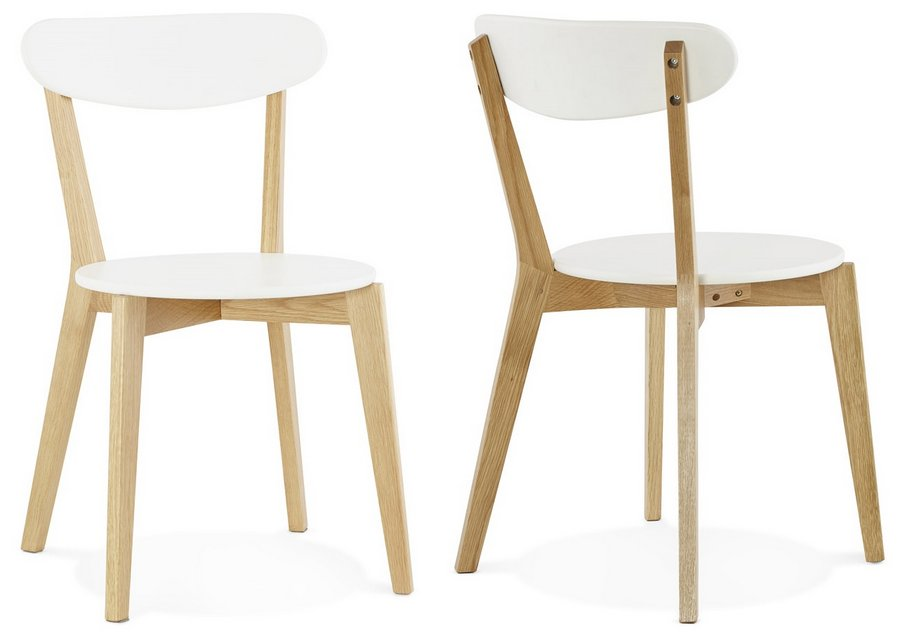sports shoes e42ae 4bb2c Scandi White Dining Chairs - Pair