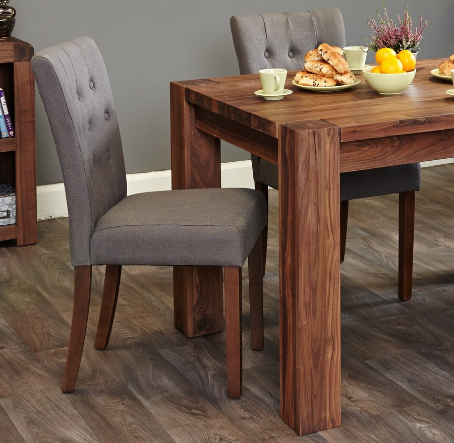 Shiro Flare Back Upholstered Dining Chairs - Slate