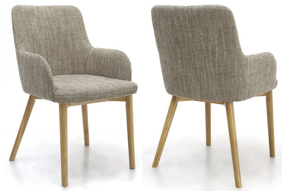 Sidcup Tweed Dining Chairs - Pair