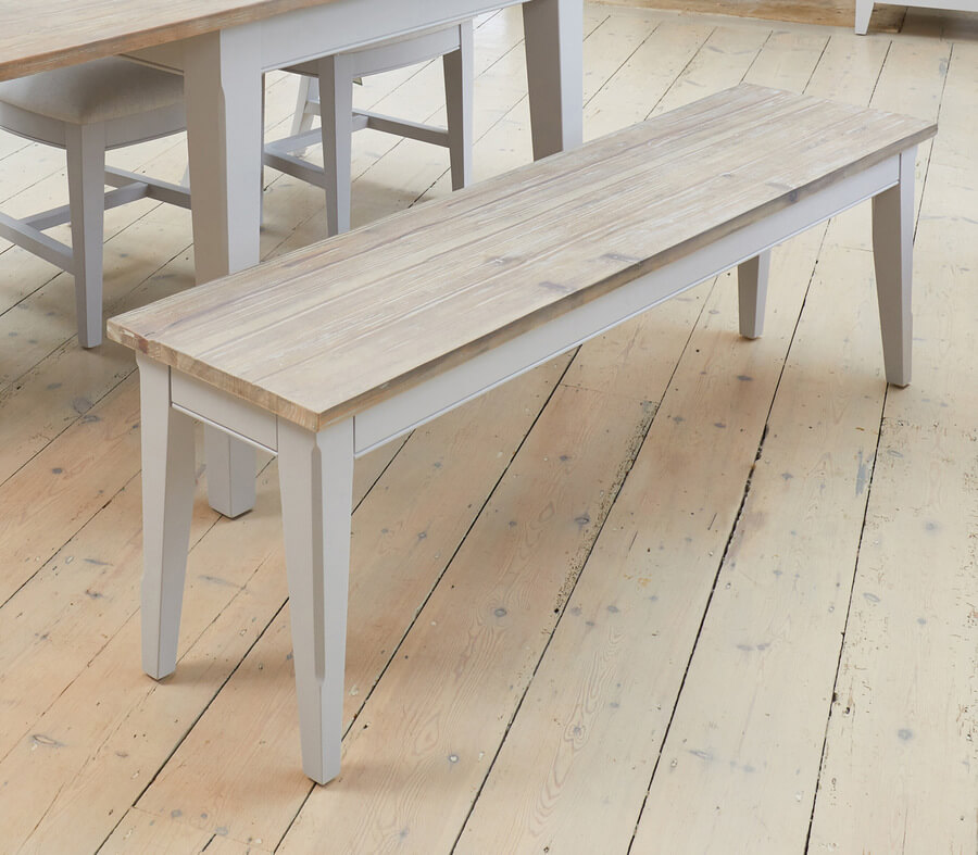 Marvelous Signature Grey Dining Bench 150 Cm