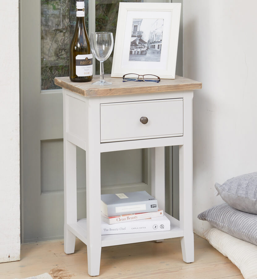 Signature Grey One Drawer Lamp Table