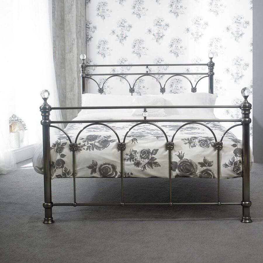 Sonita Brushed Nickel Double Bed Frame