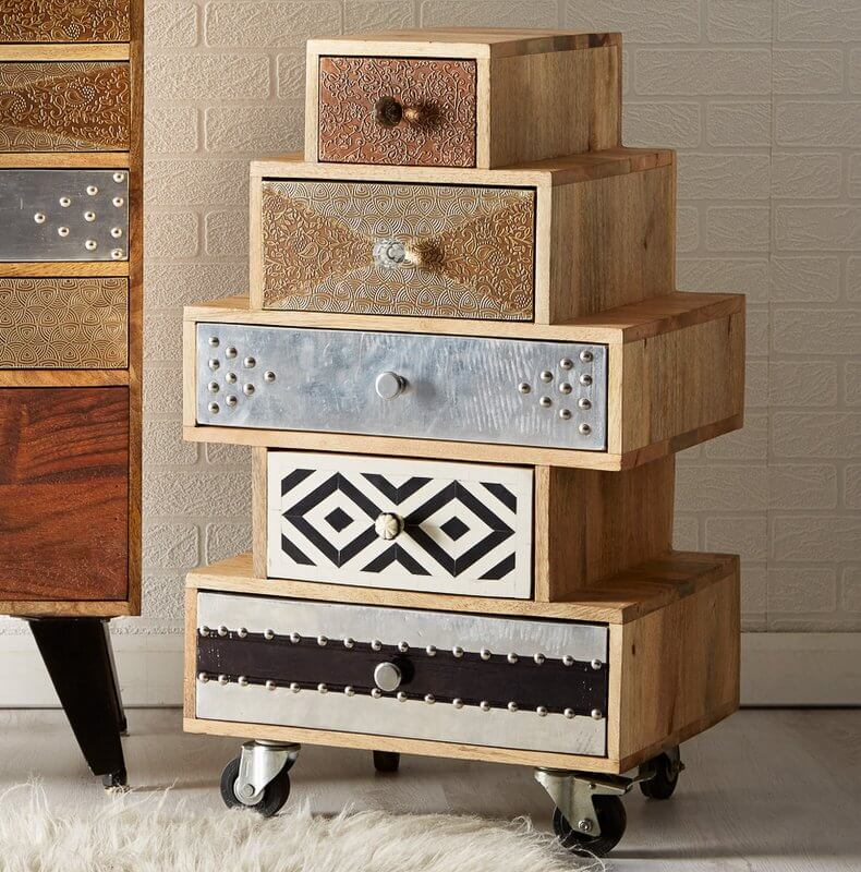 Sorio 5 Drawer Small Chest - Handcrafted
