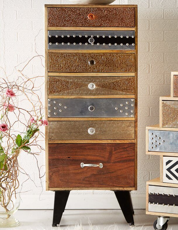 Sorio 7 Drawer Tall Chest - Handcrafted