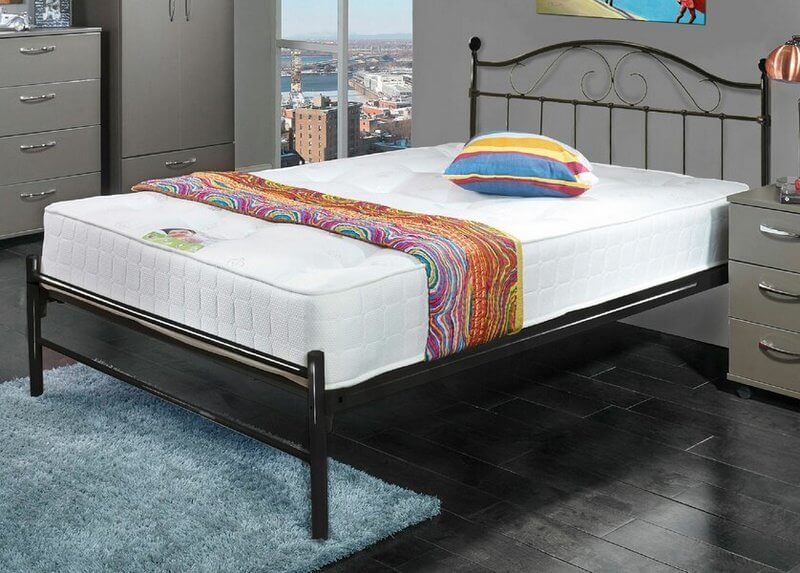Sussex Traditional Black Metal Low Foot End Bed Frame - Double