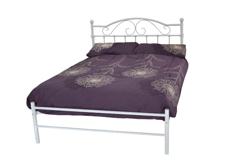 Sussex Traditional White Metal Low Foot End Bed Frame - Double