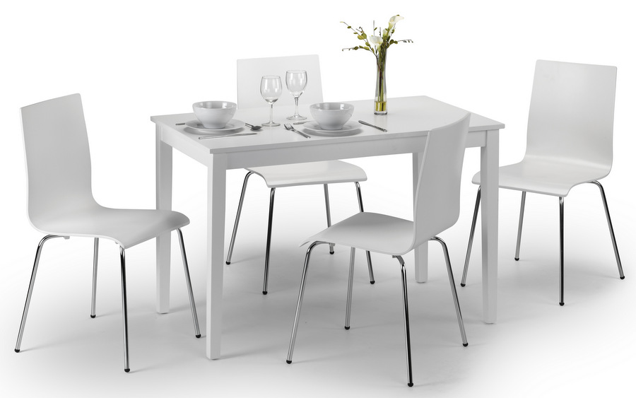 Taku White Dining Table & Chairs