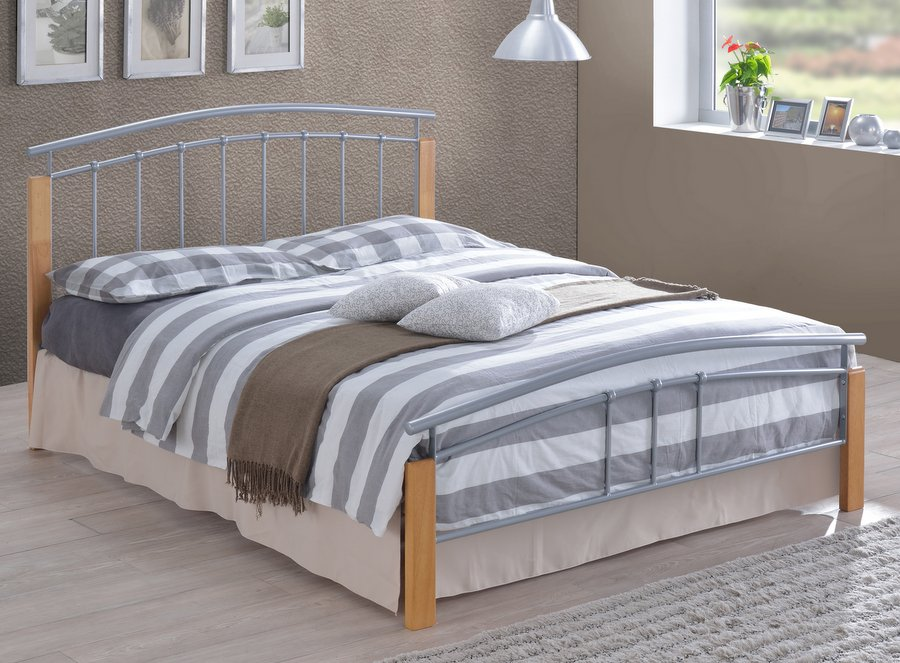 Tetras Metal & Wood - Double Bed Frame