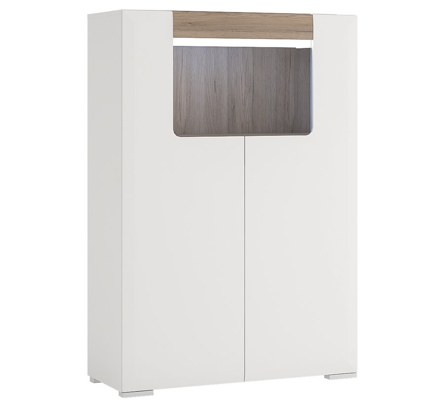 Toronto Low 2 Door Cabinet with Open Shelf