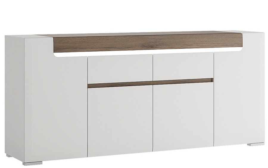 Toronto Wide 4 Door 2 Drawer Sideboard