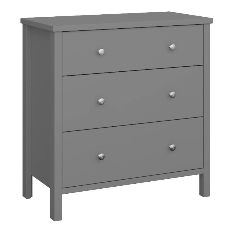 Tromso Grey  3 Drawer Chest