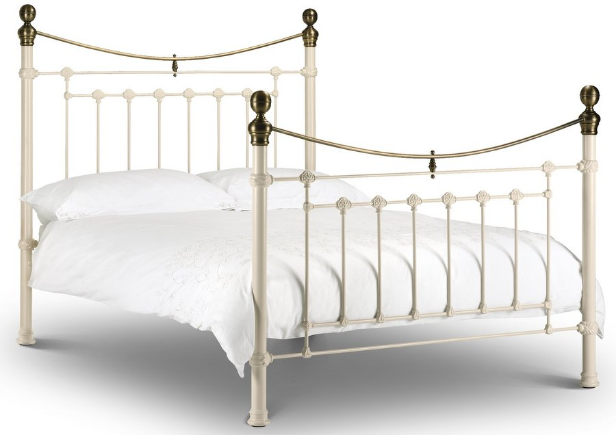 Victoria Stone White - King-Size Bed Frame