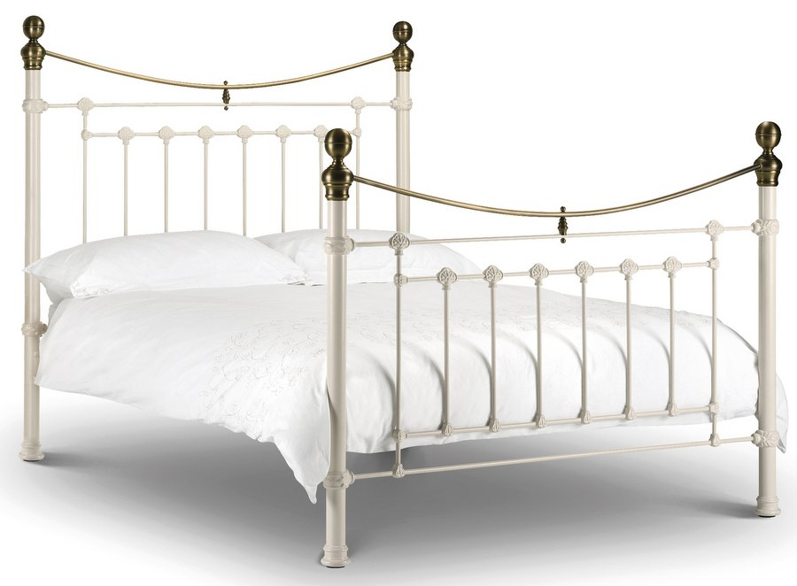 Abdabs Furniture - Victoria Stone White - Double Bed Frame