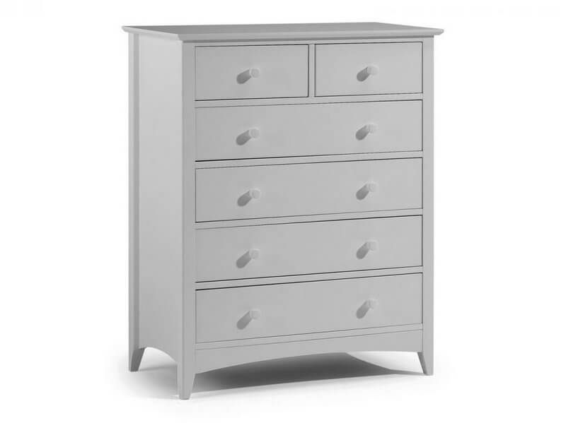 Cameo Dove Grey 4 + 2 Drawer Chest