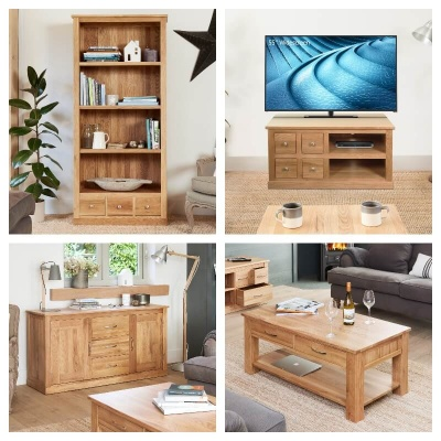 Mobel Oak Living Room Furniture Package Deal
